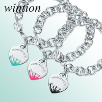 Wintion Tiff Original 1:1 High Quality Sterling Silver Bracelet Women Silver 100% 925 Jewelry Trendy Party Gift Free Shipping