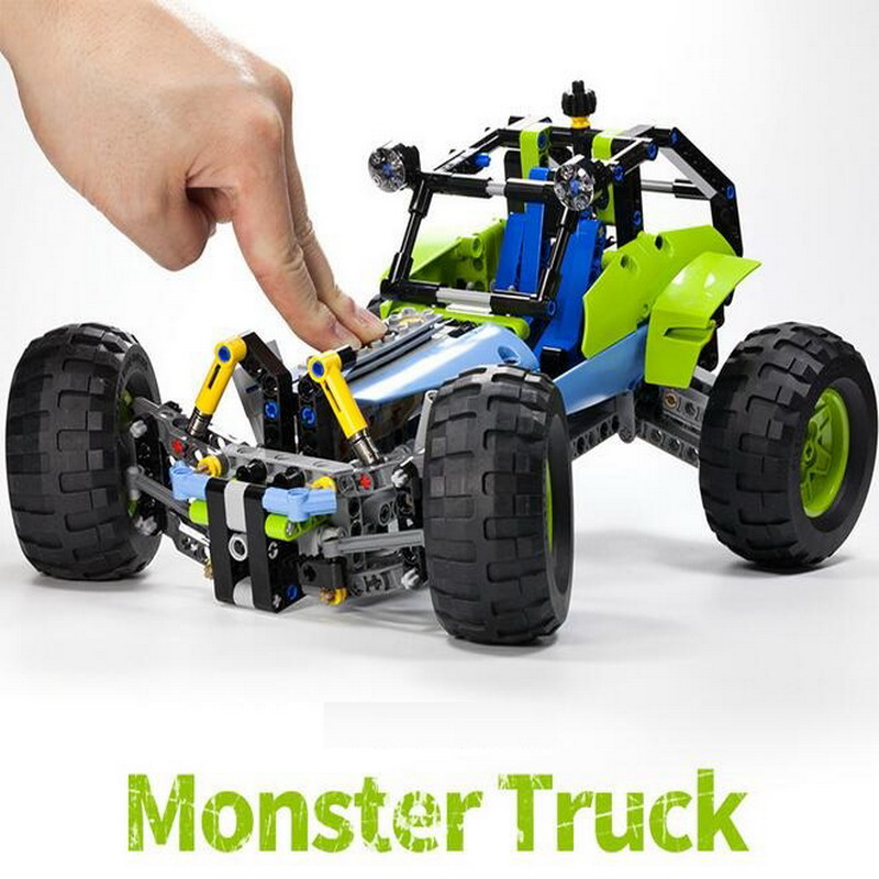 38001 LELE Technic City Series 2-in-1 Formula Off-Roader Car Model Building Blocks DIY Figure Toys For Children Compatible Legoe цена