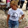 Blanco Camisetas de mujeres Beyonce FLAWLESS BEY BUENA impresión de la letra T camisa ocasional de las mujeres de manga corta Camiseta Gráfica SUPERIOR harajuku T-F10056