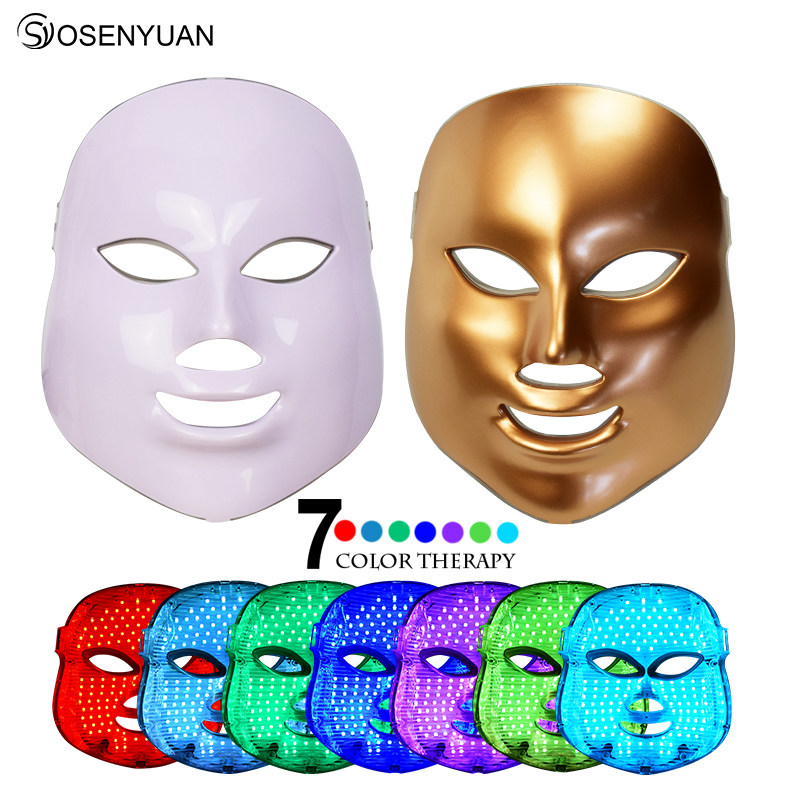 2018 Photon LED Facial Mask Skin Care Rejuvenation Wrinkle Acne Removal Face Beauty Spa Instrument 3 /7 Color Light 2017 newest 7 color light photon led facial mask skin care rejuvenation wrinkle acne removal face beauty spa instrument us plug