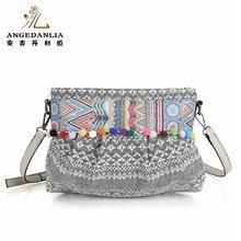 women handbag 2019 new Ethnic Bags Vintage Ladies Shoulder bags ethnic hippie bohemian bolsa hippies ladys large shoulder bag