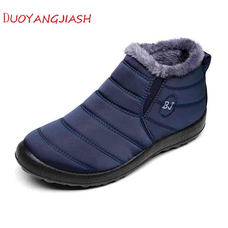 Los zapatos de los hombres 2018 botas de invierno de los hombres de moda botas de nieve de los hombres cómodos impermeable corto de felpa caliente slip on hombres botas de hombre