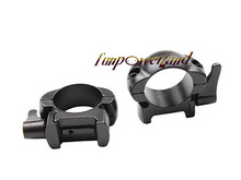 Rifle steel Weaver mount 1 pulgada perfil bajo mate palanca Lok Top Mount Rings