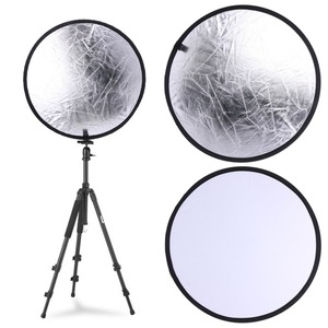 Image 2 - Silver/White 2 in 1 60cm Portable Round Light Mulit Collapsible Disc Photography Reflector For Studio With Carrying Bag