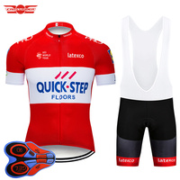 Crossrider 2018 TEAM QUICK STEP Cycling Pro Jersey Bike Wear Shorts 9D Set MTB Cycling Clothing