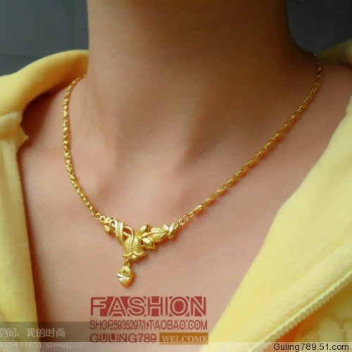 Chinese style classical wedding jewellery imitation gold necklace