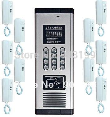 id Card Unlock Audio Intercom Door Intercom Selfless Xinsilu New Arrival Press Direct Dialing Non-visual Building Intercom System,10-apartments Audio Door Phone