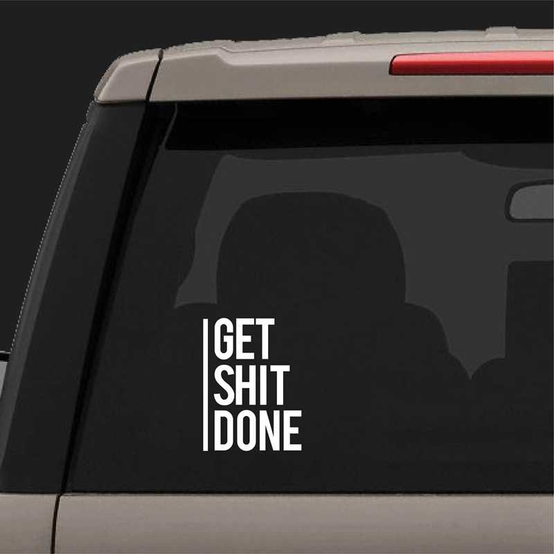 Krijgen Shit Gedaan Decal Motivational Vinyl Sticker Auto Window Decor, inspirational Laptop Decals voor Apple MacBook Air/Pro Decor
