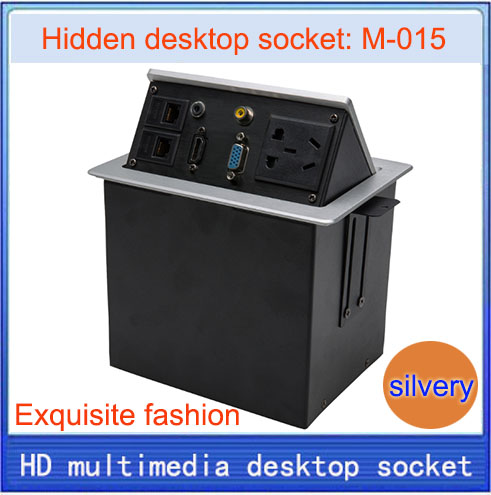 Desktop socket / hidden multimedia information box outlet / HD HDMI network RJ45 video Audio VGA interface desktop socket M-015 цена 2017