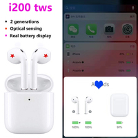 i200 tws Wireless charging,real battery display,touch function,Smart Sensor ,1:1 Air 2 Animated pop up window PK i100 i80 tws