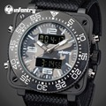 INFANTRY 2017 Camo Style Quartz Men Watches Brand Men Military Chronograph Square Face Sports Watch Waterproof Relogio Masculino
