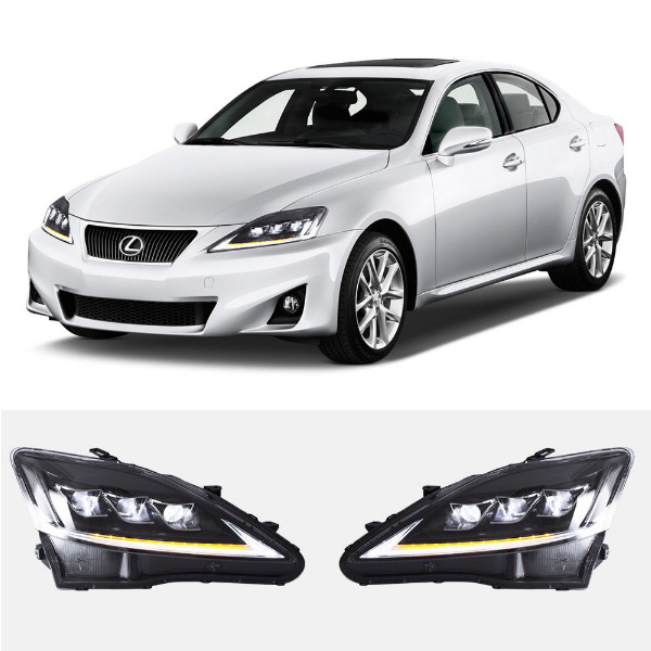VLAND Factory for Car head lamp for IS250 Headlight 2006-2012 for IS350 Headlight turning signal with LED sequential indicator