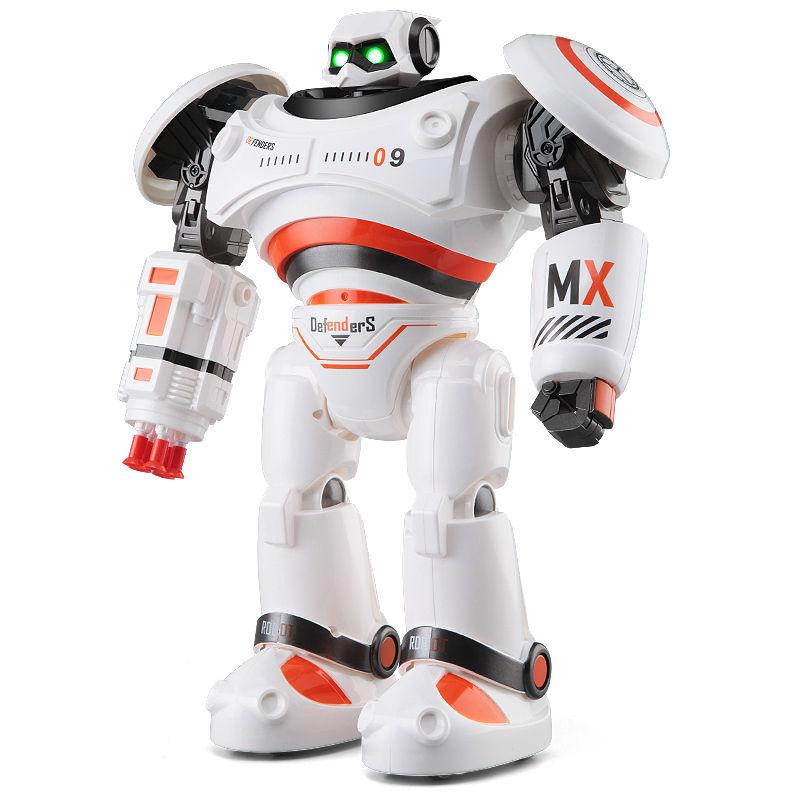 JJRC R1 inteligente programable caminando bailando contra defensor RC Robot F22250/51
