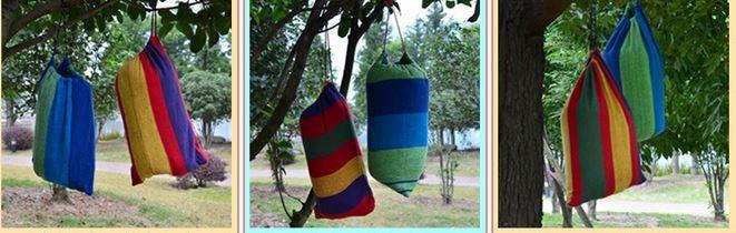 Swing Hanging Chair Outdoor Canvas Garden Hammock 3
