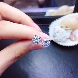 Image 4 - مويسانيتي توصية ذات نمط شعبي ، مسامير أذن للنساء ، 925 فضة ، صلابة عالية ، بدائل الماس