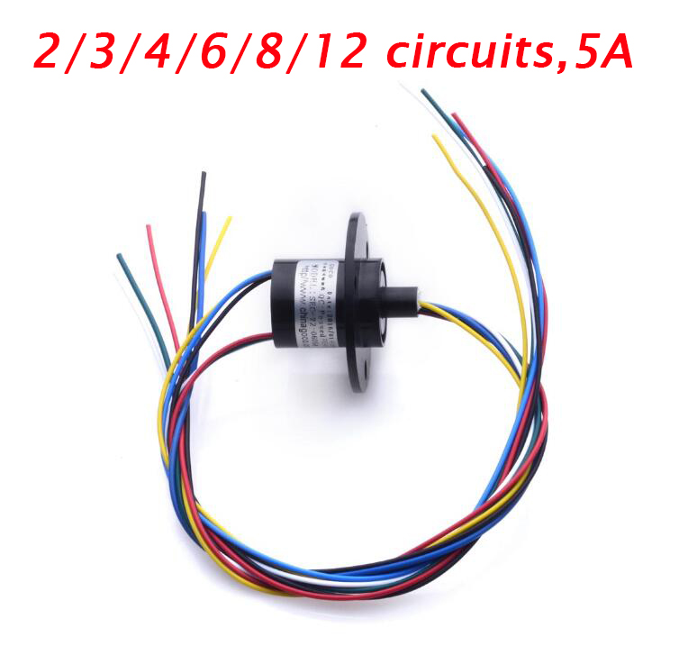 Free Shipping Slip Ring Playground Equipment Slip Ring 2/3/4/6/8/12 Circuits 5A Spare Parts Diameter 22mm цена 2016