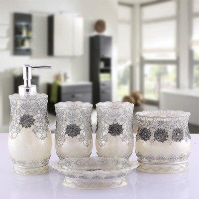 New 5 unids/set Creativo Resina productos de Baño de Baño Establece Accesorios d