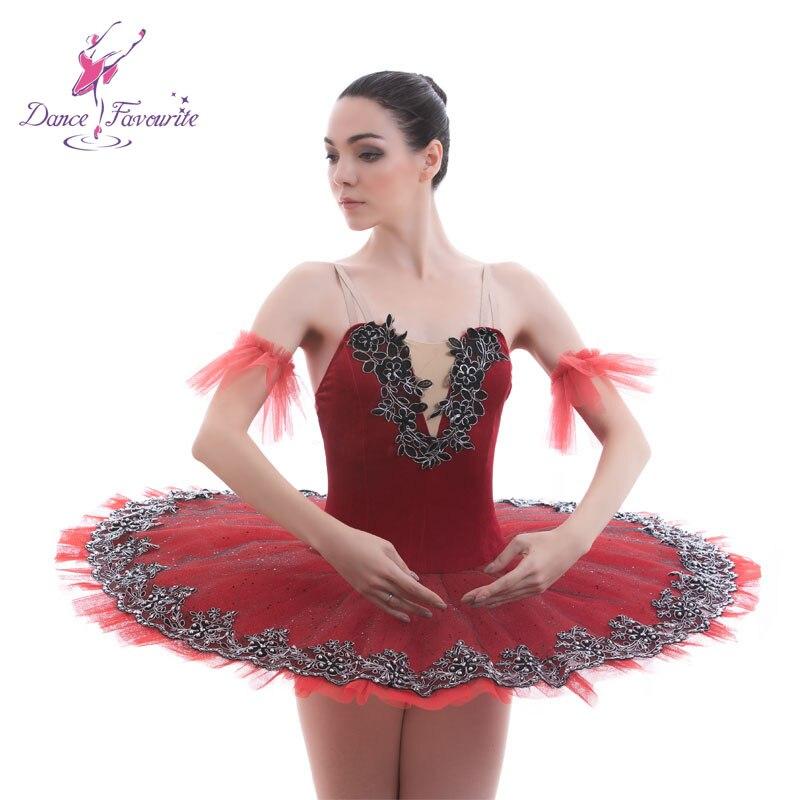 627e0c2ba4117 Velvet Bodice ballet tutu women Girls Ballet Costumes for ballerina  Performance Pancake tutus