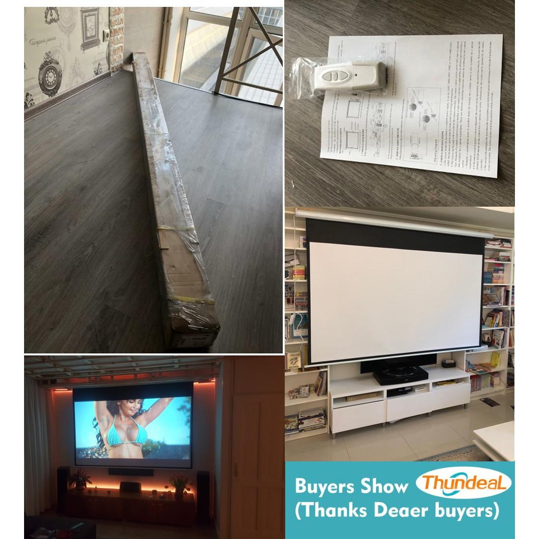 ThundeaL 100 pouces 16:9 écran de projecteur électrique Home cinéma école de commerce Bar LED motorisé DLP écran de Projection électrique - 3
