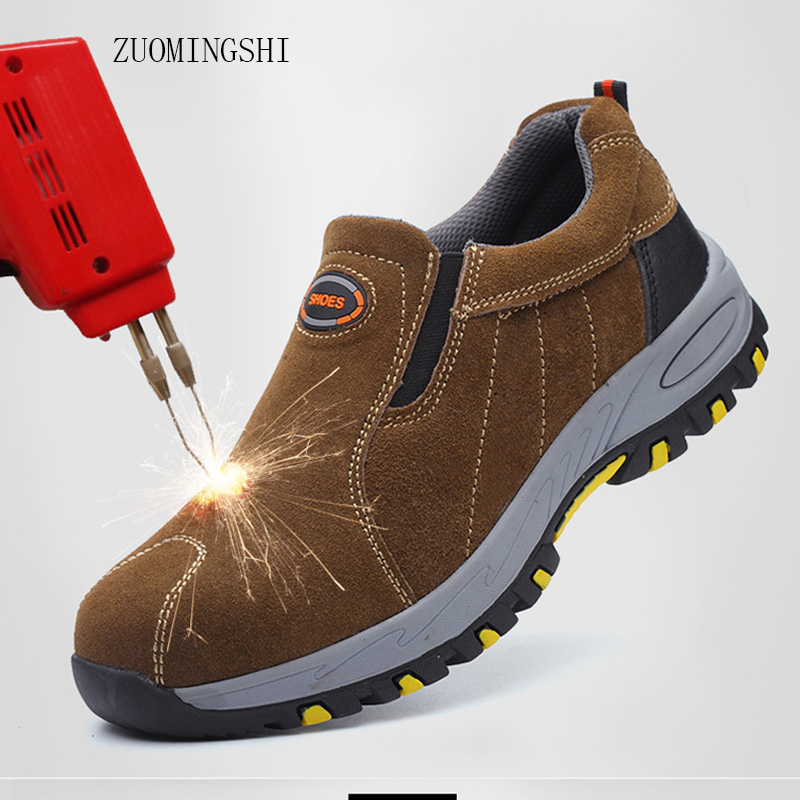 Steel Toe bot breathable work shoes security  men leather light Safety boots men anti-smashing steel head work boots
