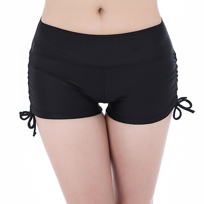 Swimsuit Yoga-Shorts Hot-Pants Swimming-Board Beach Women Gym Sport Bottom Drawstring