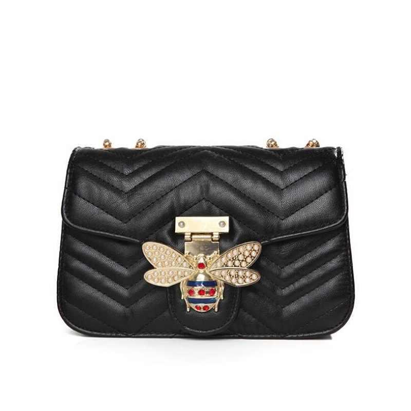 Сумка на плечо с цепочкой для женщин клатч роскошные сумки женские бренды дизайнер известный мессенджер женская кожаная сумочка с застежкой