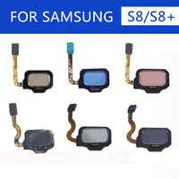 De vuelta a casa botón de menú de huellas digitales Touch ID Sensor de cinta Flex Cable para Samsung S8 G950 G950F G950U S8 más G955 g955F G955U