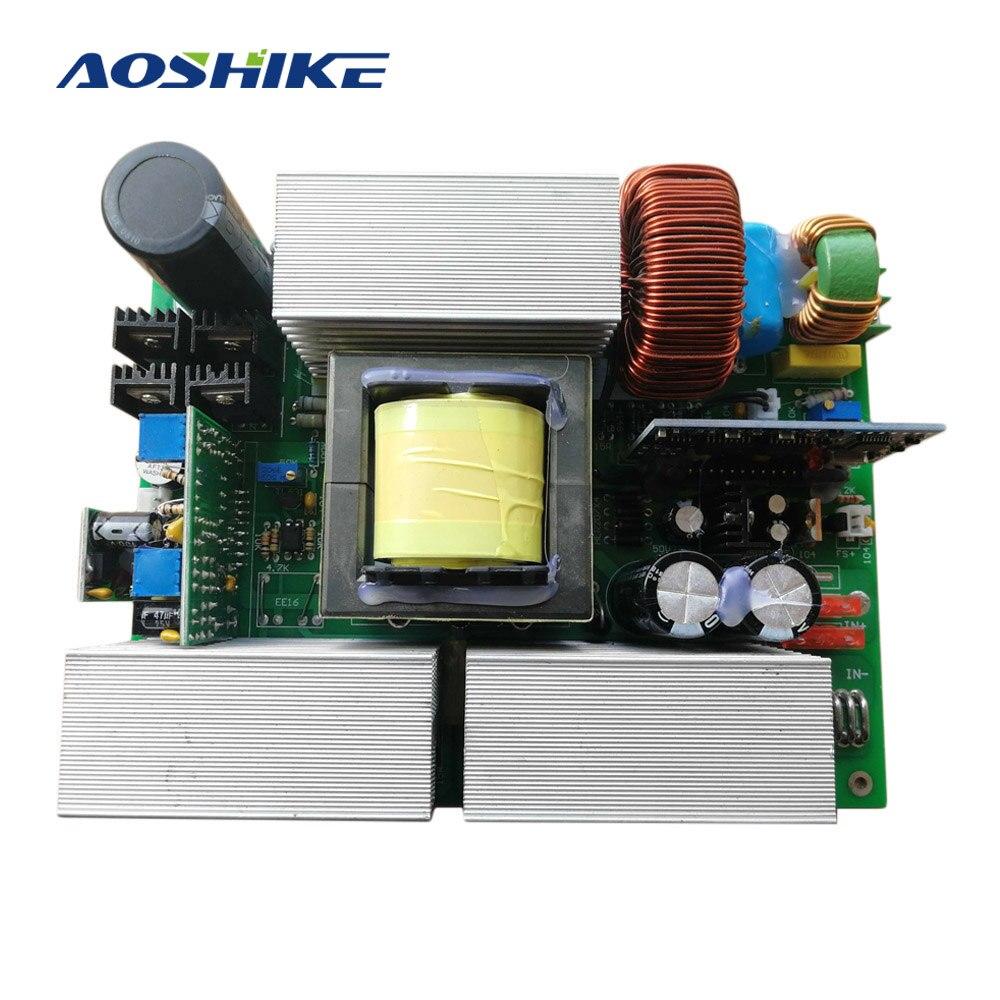 AOSHIKE 1 Pc Pure Inversor de Onda Senoidal 12 V 24 V 36 V 48 V A 220 V Inversor Solar placa de Circuito Inversor Conversor Boost Step Up Modle