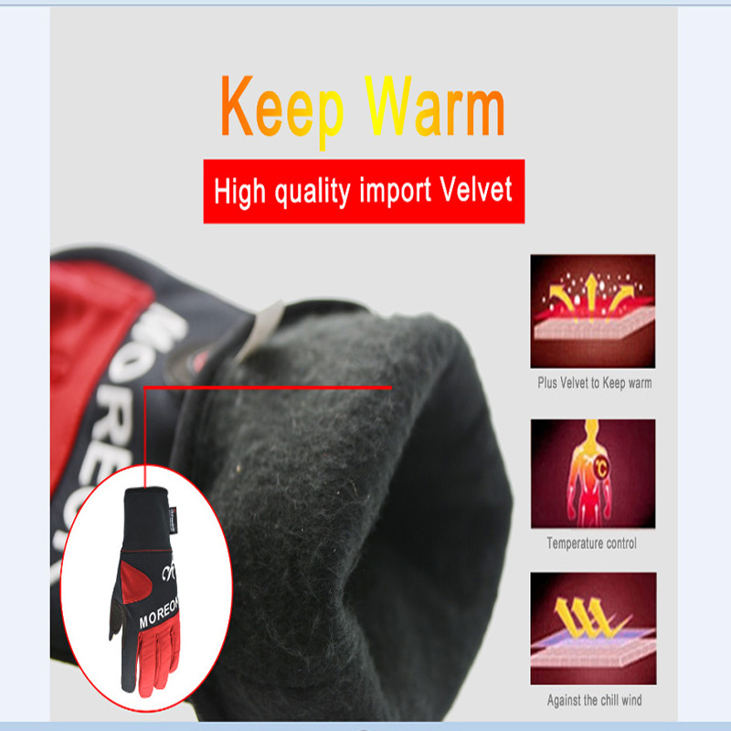 Women&men Thin Winter Water-proof ColdProof Thermal Bicycle Gloves-3m Thinsulate Insulation Sensitive Screen Gloves for Cycling
