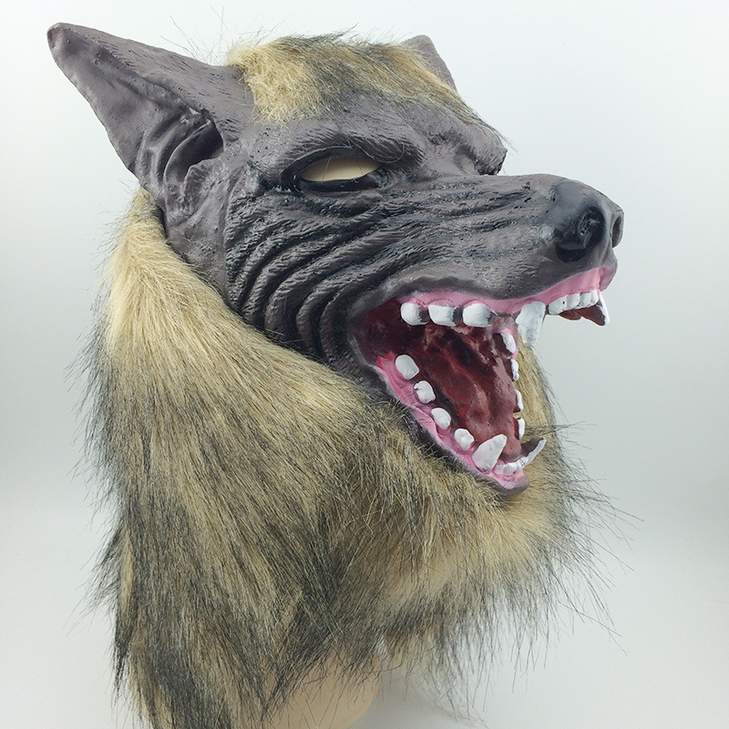 aliexpresscom buy cool wolf party mask halloween face fool wolf party mask head latex creepy scary april fools day mask cosplay masks from reliable - Cool Masks For Halloween