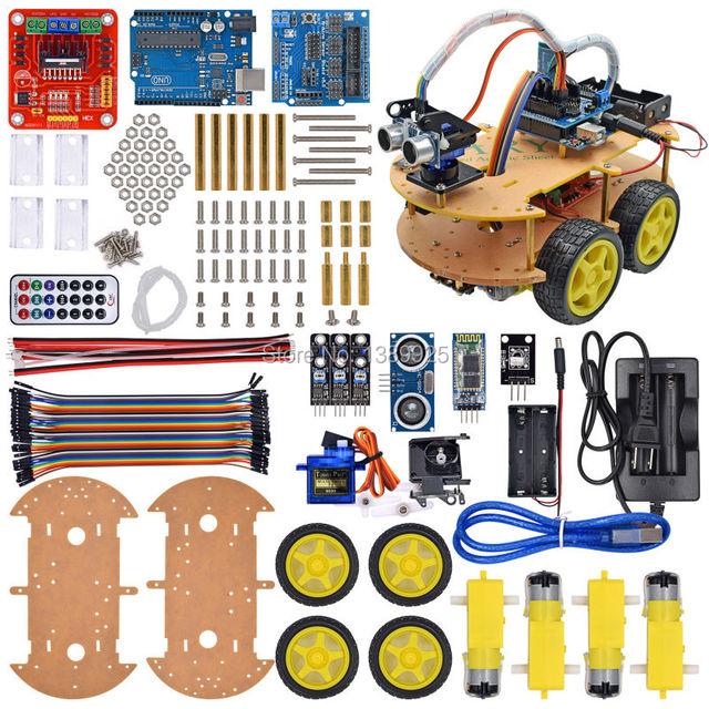 UNO Robô Do Bluetooth Car Kit Chassis terno Rastreamento Compatível UNO R3 DIY RC robô de brinquedo Eletrônico
