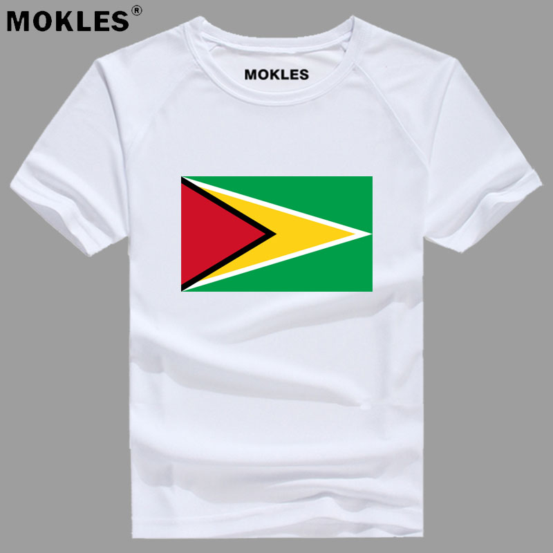 GUYANA t shirt diy free custom made name number guy t-shirt nation flag country gy republic college print photo red logo clothes