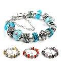 2016 Fashion European Crystal Charm Bracelets For Women 925 Silver Chain Bracelets amp Bangles DIY Jewelry Pulseras