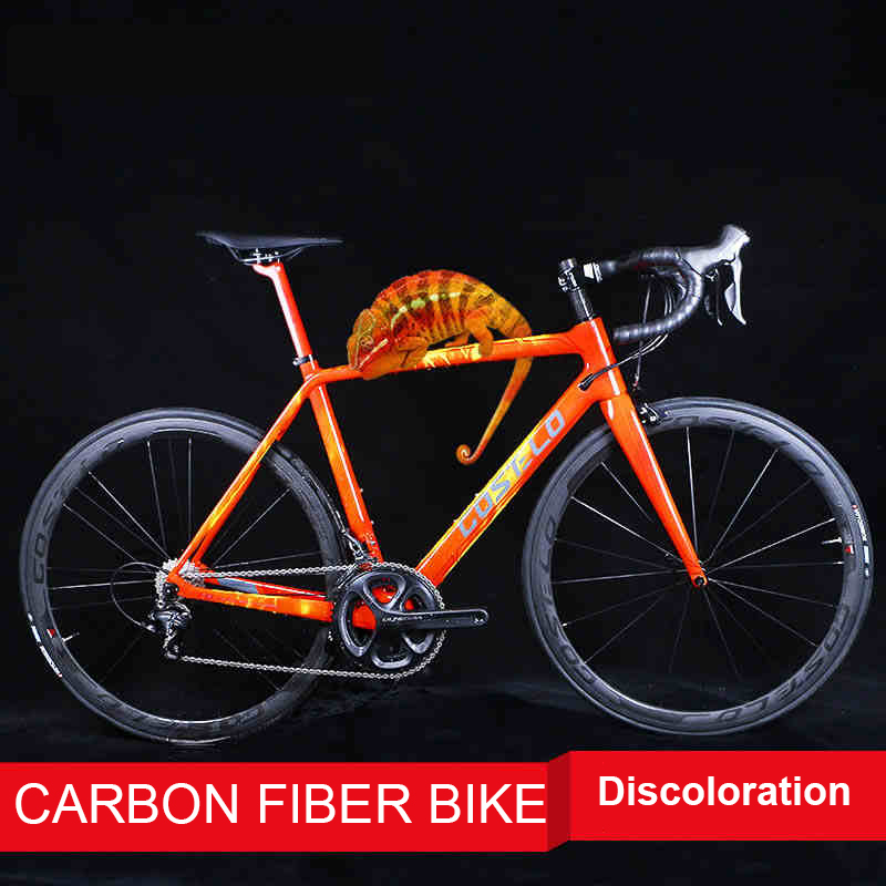 700c Carbon fiber road bicyle Ultra light carbon frame Carbon fiber rims Temperature control color frame Breaking wind road|carbon fiber road|road rims|road carbon - title=