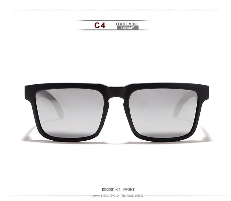 Marque Kdeam Lunettes Soleil Designer Hommes Beach Mirrored Sol Pour Oculos Étui Vacances Avec Femmes De Polarisées Carré L5Rq34Aj