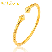 Ethlyn Top Quality men Dubai Gold Color  bangles for Ethiopian bangle & bracelets Ethiopian jewelry bangles B43