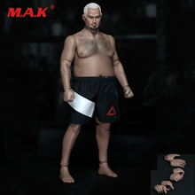 цена на 1:6 Scale Plump Male Fat Strong Body Figure Body AT018 and AT021 w head and short F 1/6  Model Figure Accessory