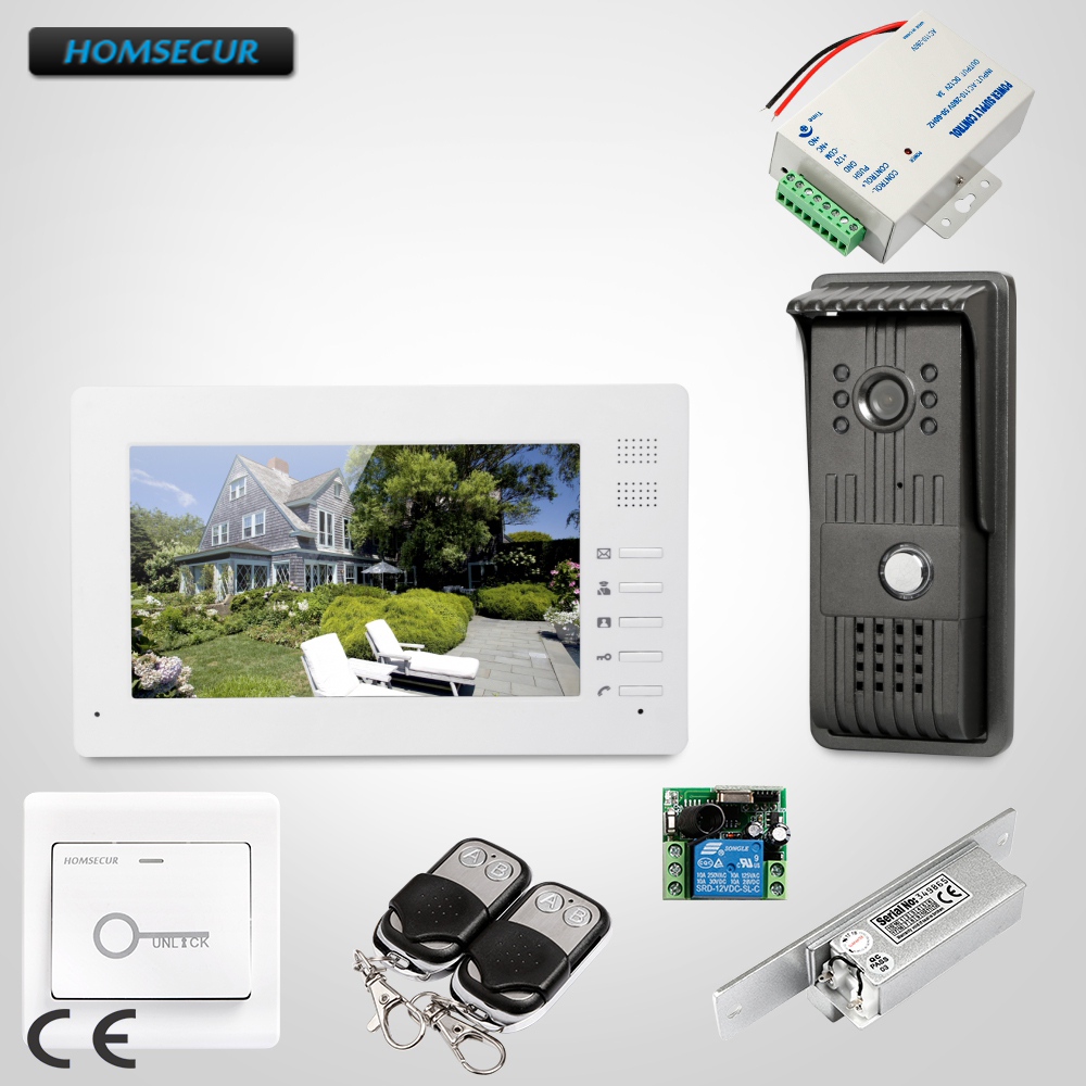 HOMSECUR 7 Video Porta di Sicurezza Del Telefono Elettrico Sciopero di Blocco Set Incluso per la Casa di Sicurezza XC003 + XM706HOMSECUR 7 Video Porta di Sicurezza Del Telefono Elettrico Sciopero di Blocco Set Incluso per la Casa di Sicurezza XC003 + XM706
