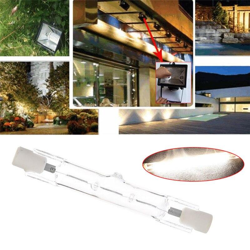 1 Pc 78mm Halogen Lampe R7s 80 W Doppel Endete Filament Flutlicht Quarz Rohr Warm Weiß Ac220-240v