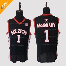 88c415f2 YOYLAP Retro Mens T-Mac Tracy McGrady Basketball Jerseys 1 Mount Zion High  School