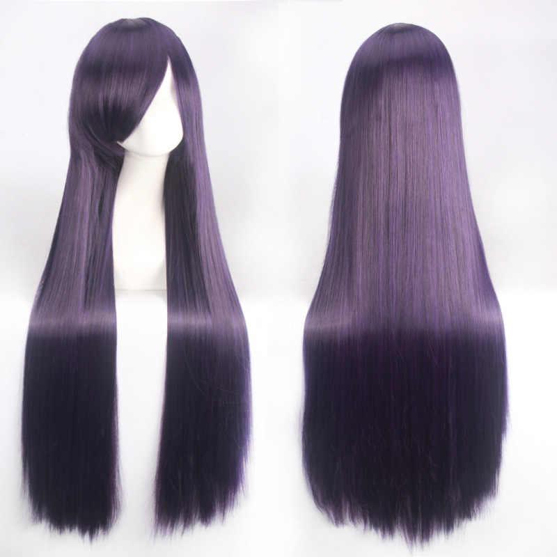 100 см Роза чистая Длинные прямые Аниме Косплэй парик блондинка зеленый красный фиолетовый белый Хеллоуин костюм парики для Для женщин синтетические волосы