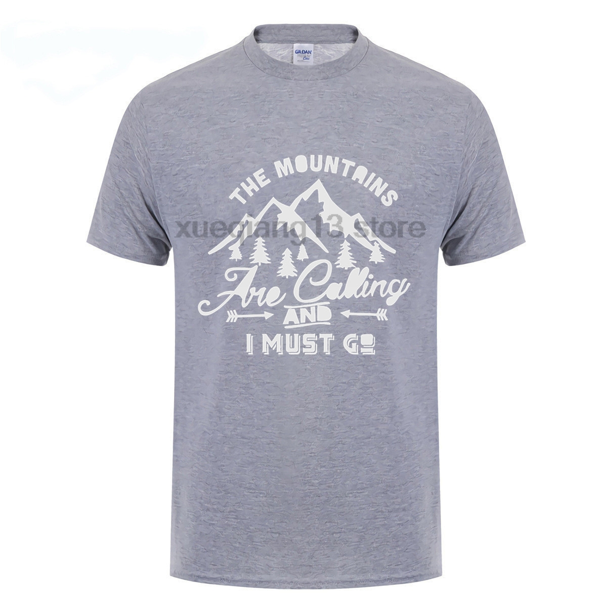 3956dd13691b4 The Mountains Are Calling And I Must Go Hike Adventure Traveler Men S T  Shirt-in T-Shirts from Men s Clothing on Aliexpress.com