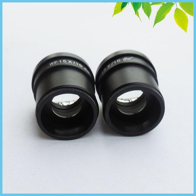 Une paire oculaire Microscope WF15X/16mm hauteur oculaire oculaire lentille optique pour Microscope stéréo avec taille de montage 30mm - 4