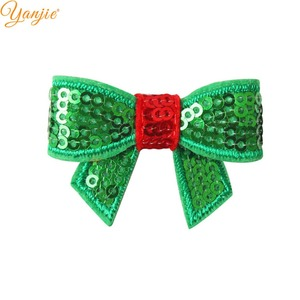 Image 3 - 100pcs/lot 1.8 Mini Sequin Bow Christmas Hairgrips Girls 2019 Christmas DIY Hair Accessories For Headband Kids Hair Bows Clips