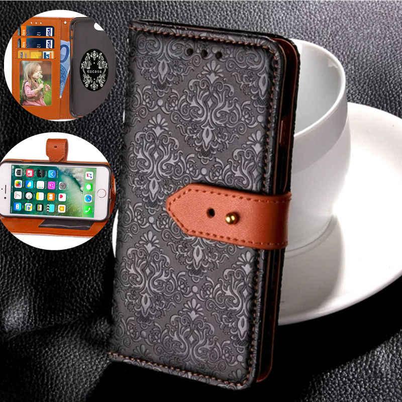 レトロ壁画スタイル革アップルケース iphone 6 6 s 6 プラス 6 s プラス 7 7 プラスフリップ財布カバーケースに 6 7 バック