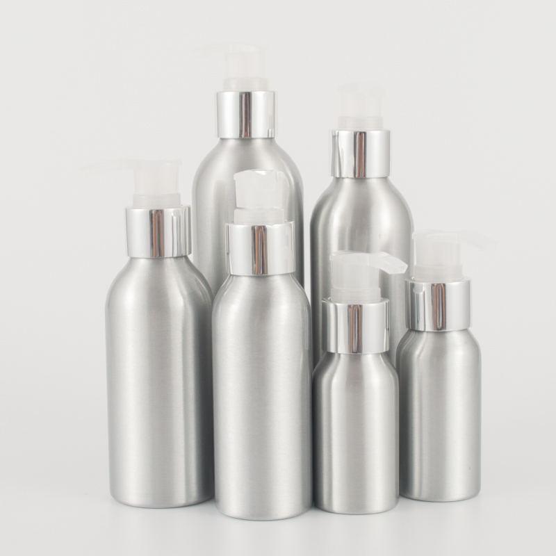 40ml-250ml Screw Pump Aluminum Bottle,Hand Washing Liquid Aluminum Bottle