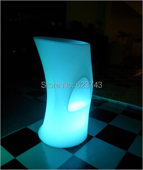 LED illuminated Bar Chair seat SL-LSC3840 waterproof with remote control+110/220V Adapter,LED light up Bar stool chair outdoor