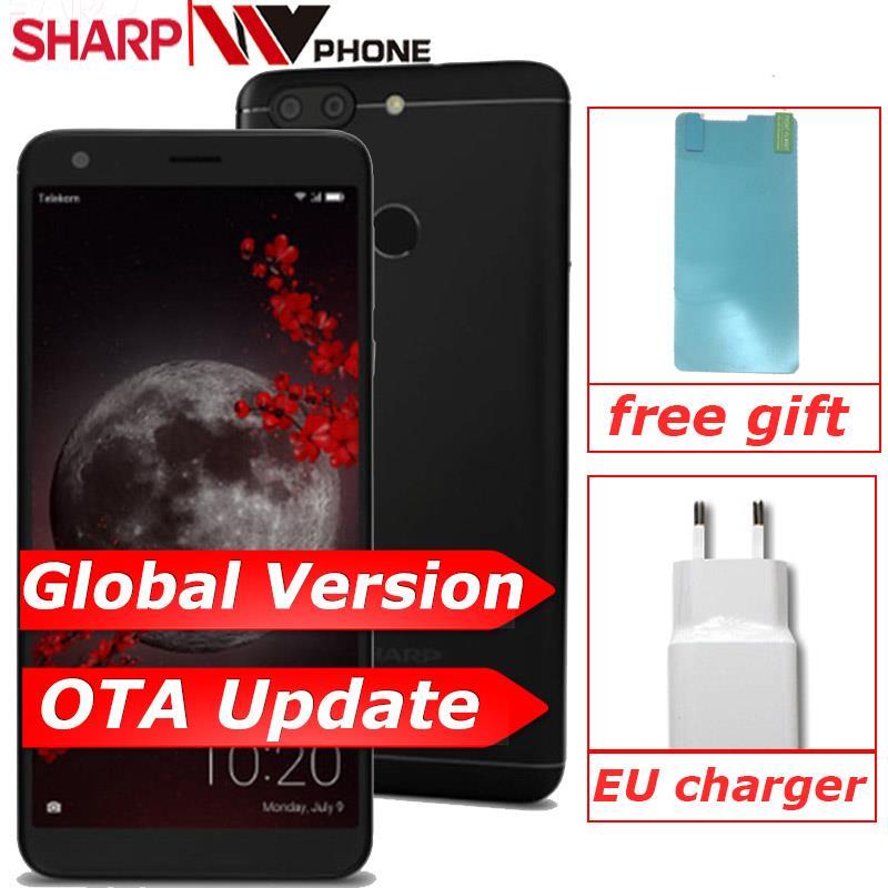Original Sharp B10 A2 Lite 4G LTE 3GB  32GB MT6750 Octa Core 5.7inch HD 1440x720P Screen Dual Rear Camera Cell Phone