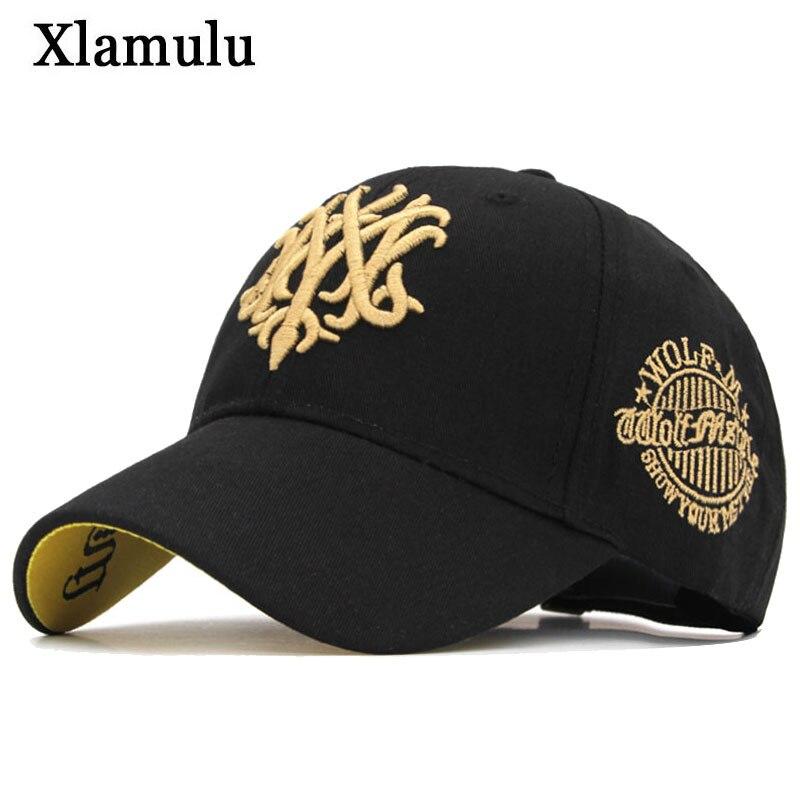 Xlamulu Fashion Baseball Cap Snapback Wolf Hats For Men Casquette Women Bone Casual Hat Gorras Fitted Plain Male Hat Dad Caps