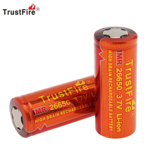Фотография TrustFire Genuine 3.7V 3400mAh 26650 IMR Lithium Battery 26650 High Rechargeable Li-ion Power Battery for Flashlight E-Cigarette
